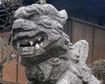 [像・オブジェ] 若宮八幡神社(埼玉県新座市)の狛犬がすごい